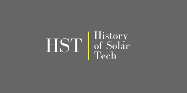 History of Solar energy technologies.